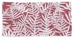 Dusty Cedar Ferns Sketch Beach Towel