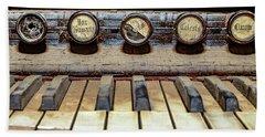 Dusty Old Keyboard Beach Towel