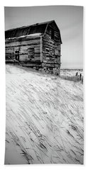 Dutch Barn In Winter Beach Towel