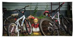Dutch Boy's Bicycles Beach Towel by Craig J Satterlee