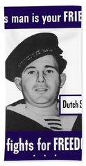 Dutch Sailor This Man Is Your Friend Beach Towel