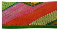 Dutch Tulip Fields Beach Sheet