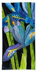 Dwarf Iris Watercolor On Yupo Beach Sheet