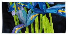 Dwarf Iris Watercolor On Yupo Beach Sheet