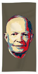 Dwight D. Eisenhower Pop Art Beach Towel