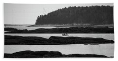 Beach Towel featuring the photograph Dwon East Maine  by Trace Kittrell