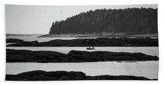 Dwon East Maine  Beach Towel