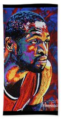 Dwyane Wade 3 Beach Sheet by Maria Arango