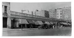 Beach Sheet featuring the photograph Dyckman Street, 1927 by Cole Thompson