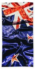 Dynamic Flag Of New Zealand Beach Towel