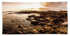 Dynamic Ocean Panoramic Beach Towel