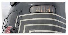 Beach Towel featuring the photograph E M D E8 Diesel Locomotive by John Schneider