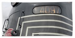 Beach Sheet featuring the photograph E M D E8 Diesel Locomotive by John Schneider