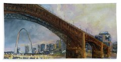 Eads Bridge - St.louis Beach Towel