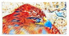 Eagle Art 1  Beach Towel
