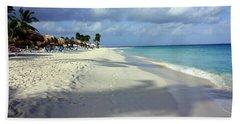 Eagle Beach Aruba Beach Sheet by Suzanne Stout