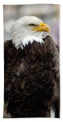 Beach Towel featuring the photograph Eagle by Doug Gibbons
