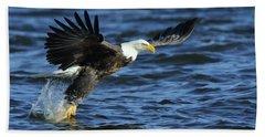 Eagle Fish Grab Beach Towel