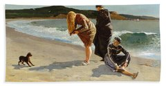Beach Towel featuring the painting Eagle Head, Manchester, Massachusetts - 1870 by Winslow Homer