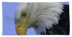Eagle Head Paint Beach Towel