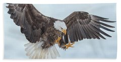 Eagle In The Clouds Beach Towel