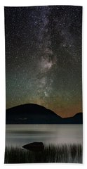 Eagle Lake And The Milky Way Beach Towel
