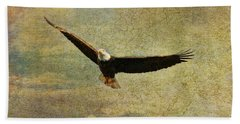 Eagle Medicine Beach Towel by Deborah Benoit