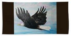 Eagle On A Mission      11 Beach Towel