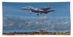 Eagle On Finals Beach Towel by Paul Gulliver