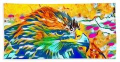 Eagle Pop Art 1 Beach Sheet