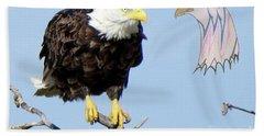 Eagle Reflection Beach Towel