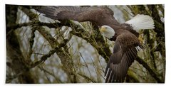 Eagle Take Off Beach Towel