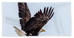 Eagle Taking Flight Beach Towel