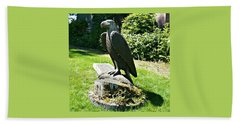 Beach Towel featuring the photograph Eagle Totem by 'REA' Gallery