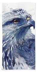 Eagle Watercolor Beach Towel