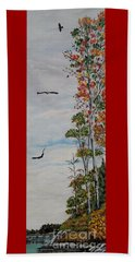 Beach Towel featuring the painting Eagles Point by Marilyn  McNish