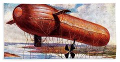 Early 1900s Military Airship Beach Sheet