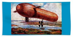 Early 1900s Military Airship Beach Towel
