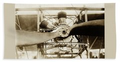Early Airplane Propeller Engine Beach Sheet