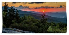 Blue Ridge Parkway Sunrise - Beacon Heights - North Carolina Beach Towel