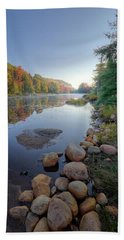 Early Color On Bald Mountain Pond Beach Towel