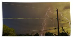 Early Evening Storm Beach Towel
