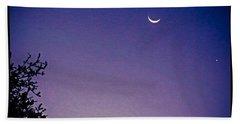 Early #evening #waxingcrescentmoon And Beach Towel