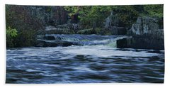 Early Fall At Eau Claire Dells Park Beach Towel