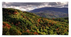 Early Fall In The Tennessee Mountains Beach Sheet by Greg Mimbs