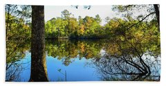 Early Fall Reflections Beach Towel