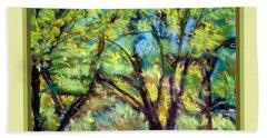Early Fall Trees Beach Sheet
