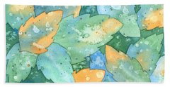 Early Frost Watercolor Beach Towel by Kristen Fox