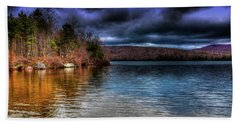 Beach Towel featuring the photograph Early May On Limekiln Lake by David Patterson