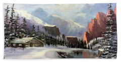 Early Morning In The Rocky Mountains Beach Towel